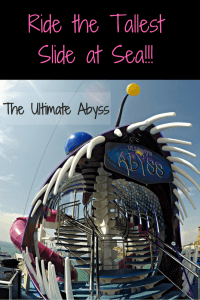 Tallest slide at sea, the Ultimate Abyss