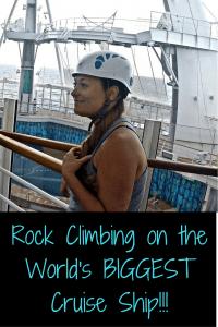 Cruise ship rock climbing