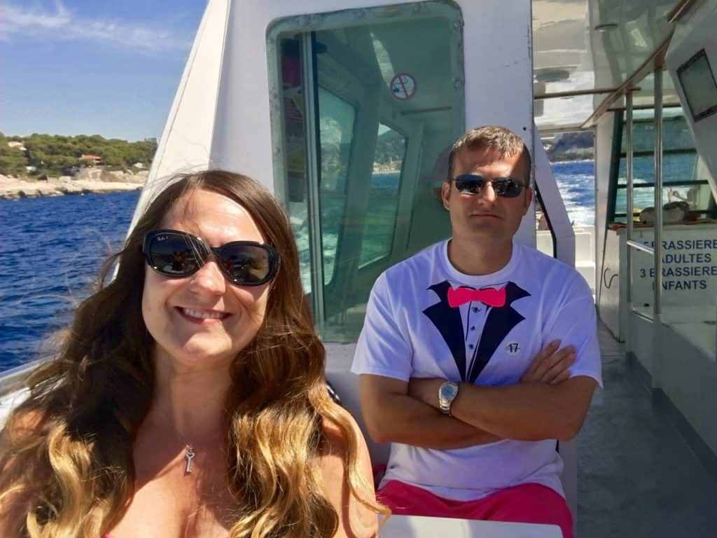 boat ride in Cassis
