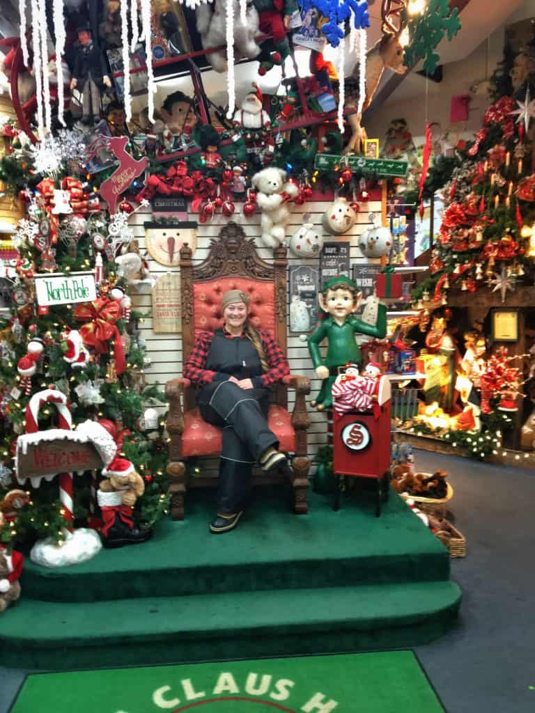 Santa's chair at Santa Claus house