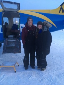 Me and the pilot back from Coldfoot.