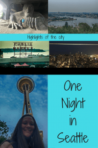Even though we had one night in Seattle, I had to see the Space Needle.