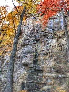 Rock climbing in South Cumberland State park